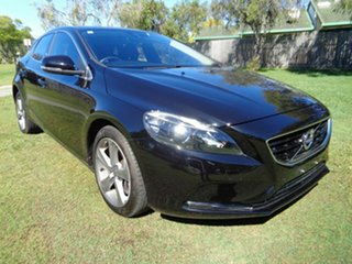 2015 Volvo V40 M Series MY16 T4 Adap Geartronic Luxury Black 6 Speed Sports Automatic Hatchback