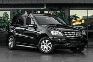 2007 Mercedes-Benz M-Class W164 MY08 ML350 Black 7 Speed Sports Automatic Wagon.