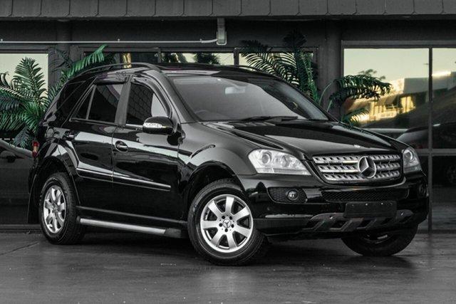 Used Mercedes-Benz M-Class W164 MY08 ML350 Bowen Hills, 2007 Mercedes-Benz M-Class W164 MY08 ML350 Black 7 Speed Sports Automatic Wagon