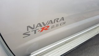2012 Nissan Navara D22 Series 5 ST-R (4x4) Silver 5 Speed Manual Dual Cab Pick-up