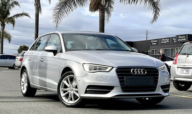 Used Audi A3 8V Attraction Sportback S Tronic Cheltenham, 2013 Audi A3 8V Attraction Sportback S Tronic Silver 7 Speed Sports Automatic Dual Clutch Hatchback