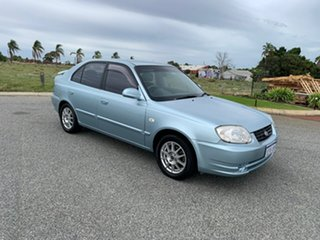 2004 Hyundai Accent LS 1.6 Blue 4 Speed Automatic Hatchback.