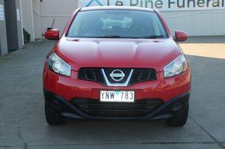 2011 Nissan Dualis J10 Series II ST (4x2) Red 6 Speed Manual Wagon.