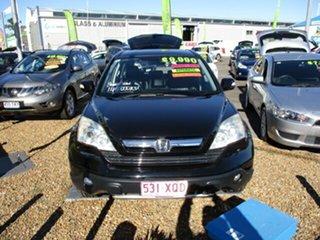 2007 Honda CR-V Luxury Black 5 Speed Auto Active Select Wagon.