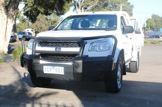 2014 Holden Colorado RG MY14 DX (4x4) White 6 Speed Manual Cab Chassis
