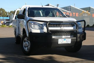 2014 Holden Colorado RG MY14 DX (4x4) White 6 Speed Manual Cab Chassis.
