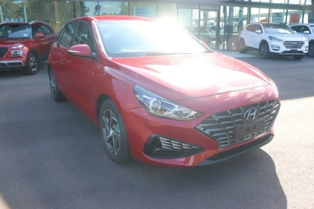 New Hyundai i30 PD.V4 MY21 Augustine Heights, 2021 Hyundai i30 PD.V4 MY21 Fiery Red 6 Speed Sports Automatic Hatchback
