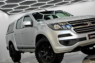 2018 Holden Colorado RG MY19 LS (4x2) (5Yr) Silver 6 Speed Automatic Crew Cab Pickup.