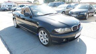 2006 BMW 3 Series E46 MY05 325Ci Steptronic Black 5 Speed Sports Automatic Convertible.