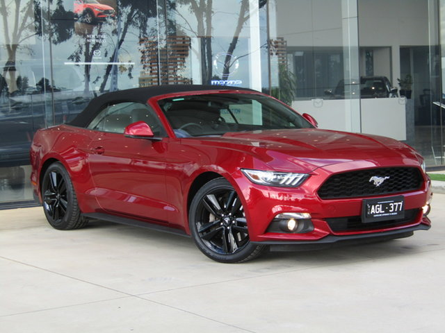 Used Ford Mustang FM SelectShift Ravenhall, 2016 Ford Mustang FM SelectShift Red 6 Speed Sports Automatic Convertible
