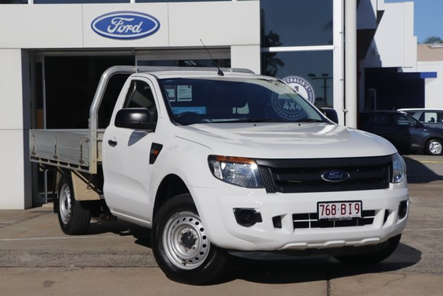 Used Ford Ranger PX XL Beaudesert, 2013 Ford Ranger PX XL White 6 Speed Manual Cab Chassis