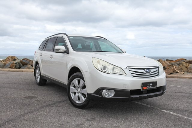 Used Subaru Outback B5A MY12 2.5i Lineartronic AWD Lonsdale, 2011 Subaru Outback B5A MY12 2.5i Lineartronic AWD White 6 Speed Constant Variable Wagon