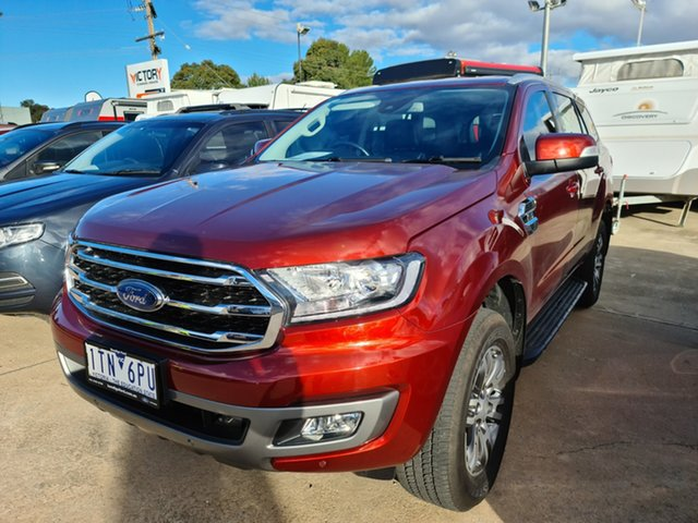Used Ford Everest UA 2018.00MY Trend Epsom, 2018 Ford Everest UA 2018.00MY Trend Red 6 Speed Sports Automatic SUV