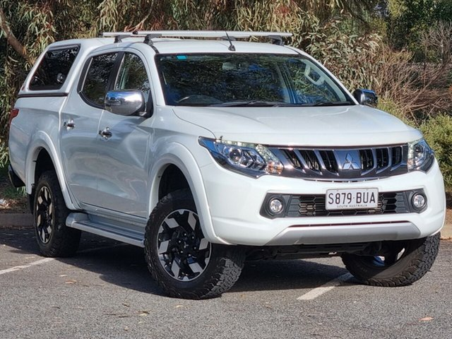 Used Mitsubishi Triton MQ MY17 Exceed Double Cab Morphett Vale, 2017 Mitsubishi Triton MQ MY17 Exceed Double Cab White 5 Speed Sports Automatic Utility