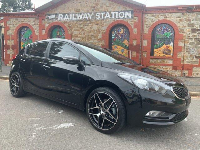Used Kia Cerato YD MY14 S Cheltenham, 2014 Kia Cerato YD MY14 S Black/Grey 6 Speed Sports Automatic Hatchback