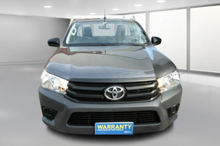 2017 Toyota Hilux TGN121R Workmate 4x2 Charcoal 5 Speed Manual Cab Chassis.