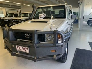 2016 Toyota Landcruiser LC70 VDJ79R MY17 Workmate (4x4) White 5 Speed Manual Double Cab Chassis