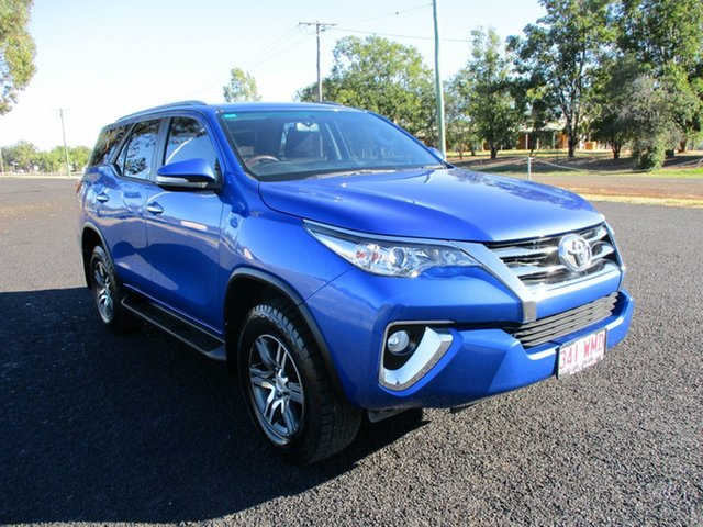 Pre-Owned Toyota Fortuner GUN156R GXL Roma, 2016 Toyota Fortuner GUN156R GXL Nebula Blue 6 Speed Automatic Wagon