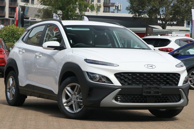 New Hyundai Kona Os.v4 MY21 2WD Totness, 2021 Hyundai Kona Os.v4 MY21 2WD Atlas White 8 Speed Constant Variable Wagon
