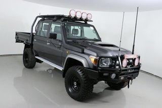 2018 Toyota Landcruiser VDJ79R GXL (4x4) Graphite 5 Speed Manual Double Cab Chassis