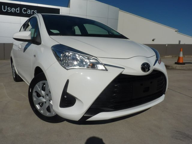Pre-Owned Toyota Yaris NCP130R Ascent Blacktown, 2018 Toyota Yaris NCP130R Ascent Glacier White 4 Speed Automatic Hatchback