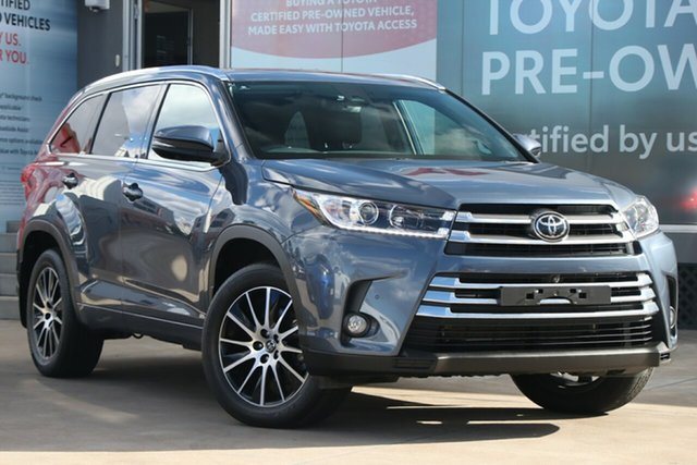Pre-Owned Toyota Kluger GSU50R Grande 2WD Guildford, 2019 Toyota Kluger GSU50R Grande 2WD Cosmos Blue 8 Speed Automatic Wagon