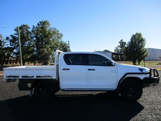 2018 Toyota Hilux GUN126R MY19 SR (4x4) Glacier White 6 Speed Manual Double Cab Chassis.
