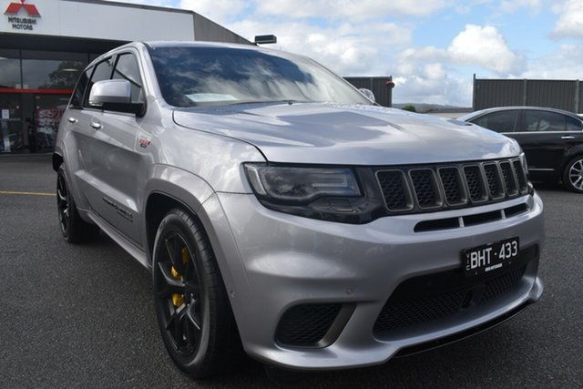Used Jeep Grand Cherokee WK MY18 Trackhawk Wantirna South, 2018 Jeep Grand Cherokee WK MY18 Trackhawk Billet Silver 8 Speed Sports Automatic Wagon