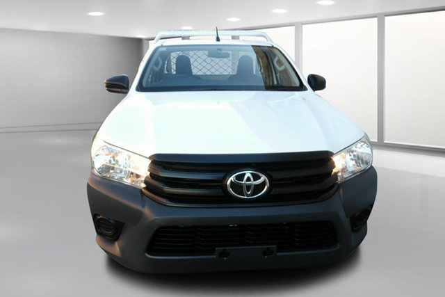 Used Toyota Hilux GUN122R Workmate 4x2 West Footscray, 2016 Toyota Hilux GUN122R Workmate 4x2 White 5 Speed Manual Cab Chassis