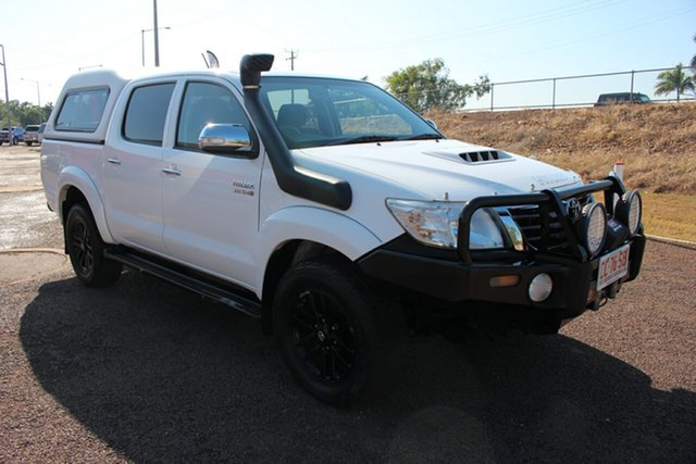 Pre-Owned Toyota Hilux KUN26R MY14 SR5 Double Cab Darwin, 2013 Toyota Hilux KUN26R MY14 SR5 Double Cab Glacier White 5 Speed Manual Utility