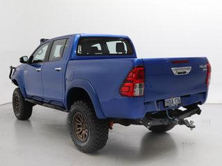 2015 Toyota Hilux GUN126R SR (4x4) Blue 6 Speed Manual Dual Cab Chassis