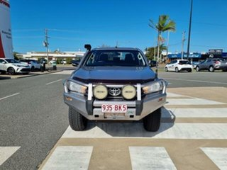 2016 Toyota Hilux GUN126R SR Double Cab Silver Sky 6 Speed Manual Cab Chassis
