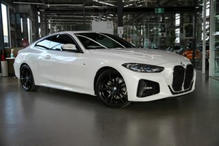 2020 BMW 4 Series G22 420i Steptronic M Sport White 8 Speed Sports Automatic Coupe.