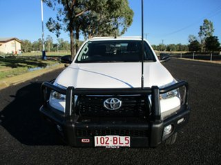 2018 Toyota Hilux GUN126R MY19 SR (4x4) Glacier White 6 Speed Manual Double Cab Chassis