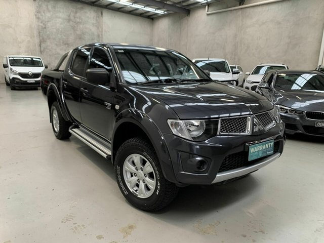 Used Mitsubishi Triton MN MY13 GL-R Double Cab Coburg North, 2012 Mitsubishi Triton MN MY13 GL-R Double Cab Grey 5 Speed Manual Utility