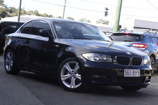 Used BMW 125i E82 125i Mount Gravatt, 2009 BMW 125i E82 125i Black 6 Speed Automatic Coupe