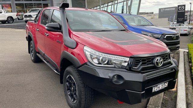Used Toyota Hilux GUN126R Rugged X Double Cab Brookvale, 2018 Toyota Hilux GUN126R Rugged X Double Cab Red 6 Speed Sports Automatic Utility