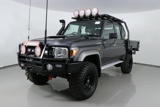 2018 Toyota Landcruiser VDJ79R GXL (4x4) Graphite 5 Speed Manual Double Cab Chassis.