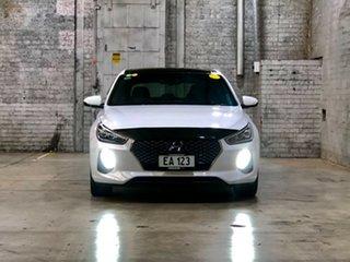 2017 Hyundai i30 PD MY18 SR D-CT Premium White 7 Speed Sports Automatic Dual Clutch Hatchback.