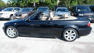 2006 BMW 3 Series E46 MY05 325Ci Steptronic Black 5 Speed Sports Automatic Convertible