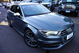 2015 Audi S3 8V MY15 S Tronic Quattro Grey 6 Speed Sports Automatic Dual Clutch Sedan.