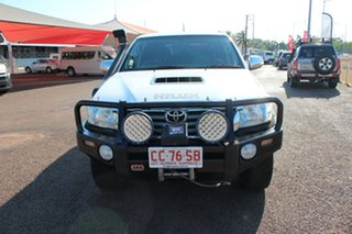 2013 Toyota Hilux KUN26R MY14 SR5 Double Cab Glacier White 5 Speed Manual Utility.