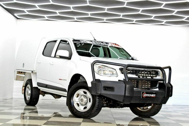 Used Holden Colorado RG MY16 LS (4x4) Burleigh Heads, 2016 Holden Colorado RG MY16 LS (4x4) White 6 Speed Automatic Crew Cab Chassis