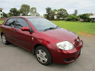 2007 Toyota Corolla ZRE152R Ascent Red 4 Speed Automatic Sedan.