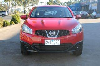2010 Nissan Dualis J10 MY10 ST (4x2) Red 6 Speed Manual Wagon.