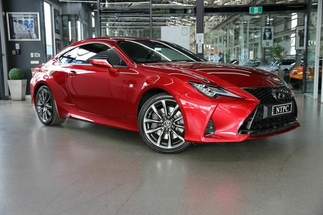 Used Lexus RC GSC10R RC350 F Sport North Melbourne, 2020 Lexus RC GSC10R RC350 F Sport Red 8 Speed Sports Automatic Coupe