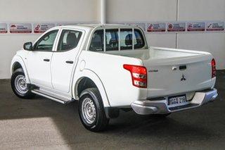 2017 Mitsubishi Triton MQ MY17 GLX White 5 Speed Automatic Dual Cab Utility.