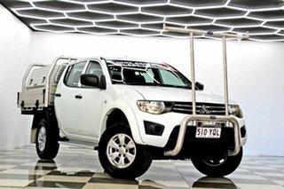 2014 Mitsubishi Triton MN MY15 GLX (4x4) White 5 Speed Manual 4x4 Double Cab Utility.
