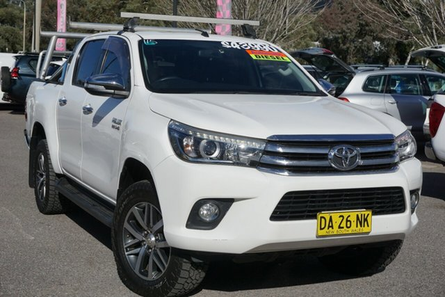 Used Toyota Hilux GUN126R SR5 Double Cab Phillip, 2016 Toyota Hilux GUN126R SR5 Double Cab White 6 Speed Sports Automatic Utility