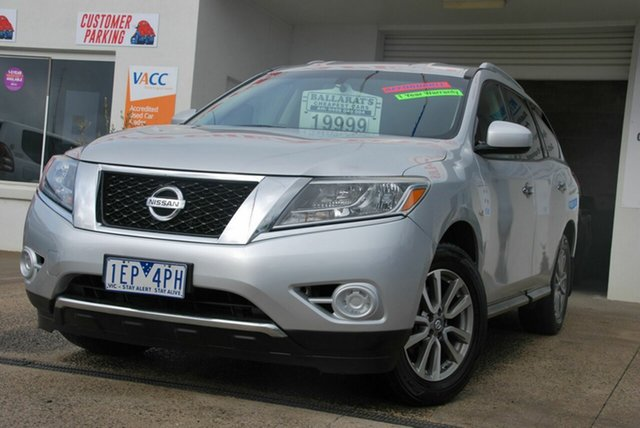 Used Nissan Pathfinder R52 ST (4x2) Wendouree, 2013 Nissan Pathfinder R52 ST (4x2) Silver Continuous Variable Wagon